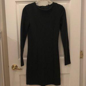 Zara Olive Green Sweater Dress - Brand New